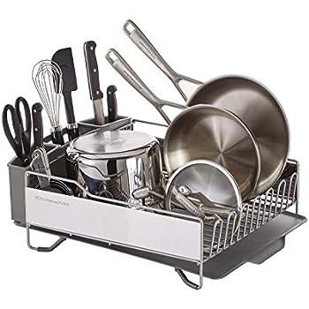 Amazon Com Simplehuman Kitchen Steel Frame Dish Rack