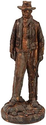 Solid Rock Stoneworks Wyatt EARP Western Cowboy Statue 31in Tall Rust Color