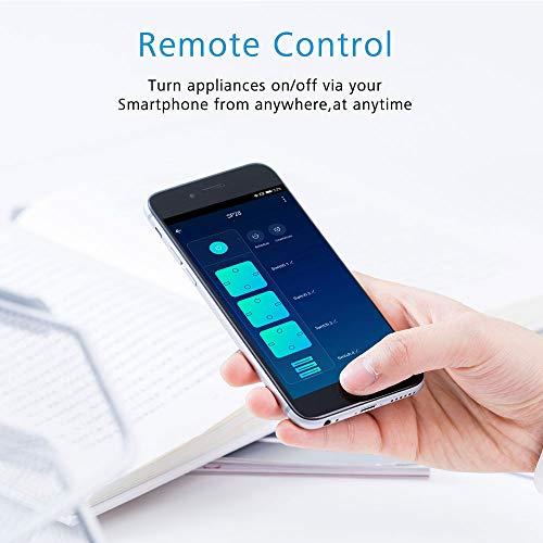 Wifi Smart Power Strip presa multipla Protezione contro le sovratensioni 3AC 4 USB Smart Home Multipresa intelligente Compatibile con Alexa Google Home Echo 2.4GHz Spine telecomando con funzione timer