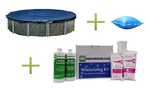 bove Ground Pool Cover w/ 4'x8' Air Pillow + Winterizing Kit ()