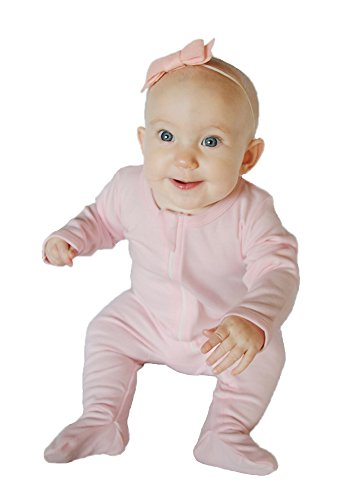 Owlivia Baby Organic Cotton Zip-Up Sleep N Play (6-12 Months, Pink) -