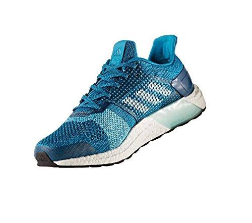 adidas Ultra Boost ST Running Shoe - Men's Mystery Petrol/Footwear White/Blue Night, 11.0