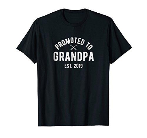 Mens New Grandpa T-Shirt 2019 Baby Announcement Grandad Gift ()