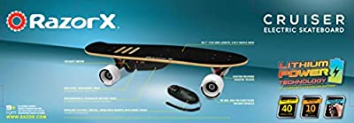 RazorX Cruiser Electric Skateboard by Razor USA, LLC