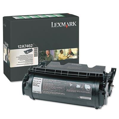 T634n Printer Laser - Lexmark 12A7462 Genuine High Yield Black Toner for T630 T632 T634 X630 X631 X634 UDS-140 142 144 - 21,000 Pages