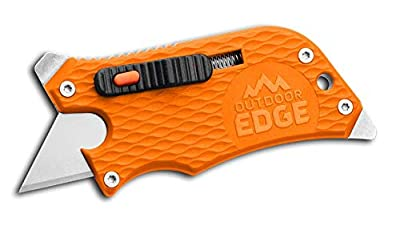 Outdoor Edge Slidewinder Utility Knife, Box Cutter, Screwdriver, Bottle Opener, Multi Tool