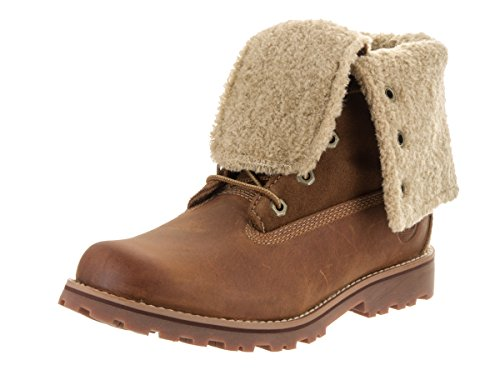 6 Inch Down Boot - Timberland Authentics 6-Inch Shearling Fold Down Waterproof Boot (Toddler/Little Kid/Big Kid),Brown,7 M US Big Kid