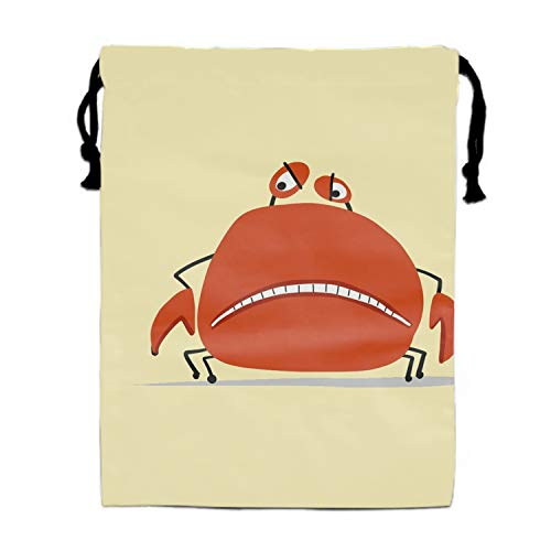 Funny Crab Sketch For Your Design Drawstring Bags Party Favors Bags(1 Pack), Personalised Birthday Fabric Party Goodie Bag Gift for Kids Boys & Girls ()