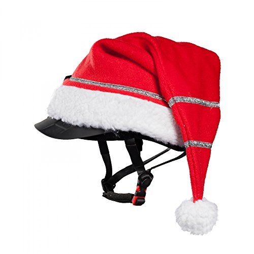 Horze Christmas Cap for Helmet, Red, One Size