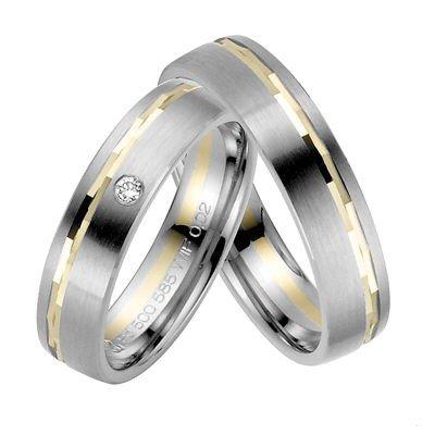 Confíes anillos/anillos de boda/oro 333/paladio 500