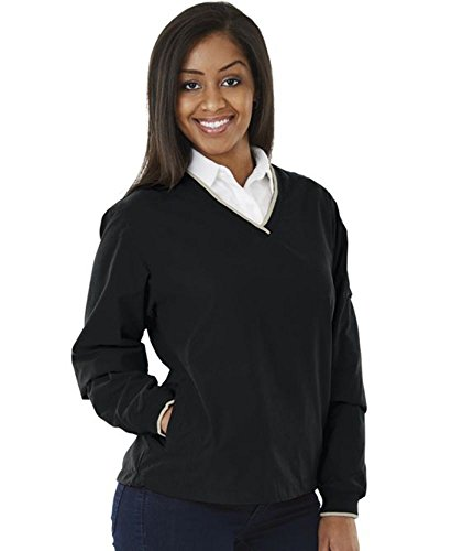 Charles River Apparel Women's Legend Windshirt, Black/Light Khaki, -