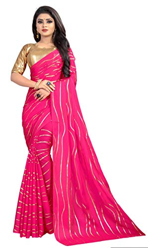 - Hiral Designer Rangoli Heavy Georgette Saree with blouse piece