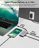 INTPW USB C to VGA Adapter, USB-C to HDMI 4K