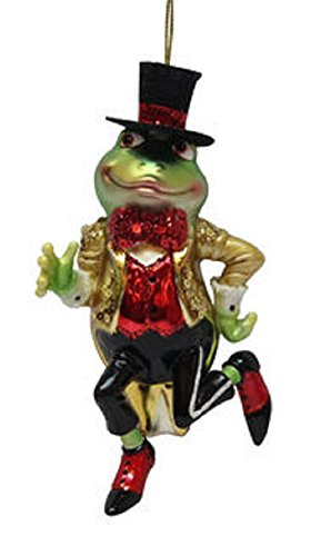 December Diamonds Frog Prince with Gold Tuxedo Glass Christmas Ornament 7980502 ()