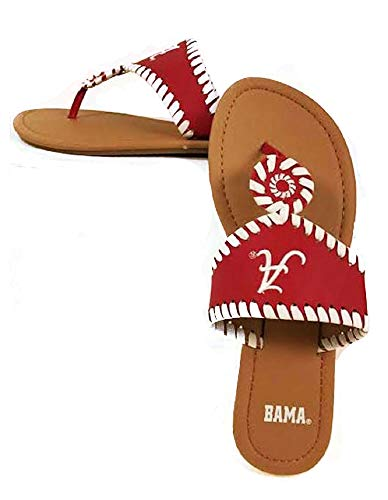 Alabama Crimson Tide Ladies Whip-Stitch Sandals - Size 10