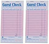 GCP3632-1-IN Pink Guest Check Board, 1 Part Booked with 15 Lines, Package of 10 Books (2 Pack of 50, Pink)