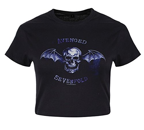 Sevenfold Negro Mujer Deathbat Camiseta Avenged YOpTqO