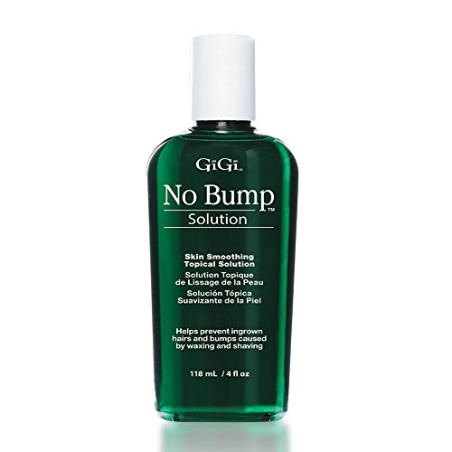 GiGi No Bump Skin Smoothing Topical Solution 4 oz, help prevent razor burns, hair bumps and ingrown hair after waxing or shaving