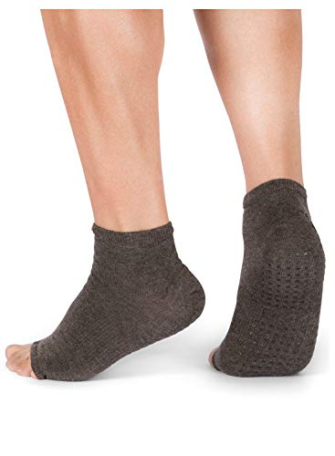 Yoga Socks for Women Non Slip, Toeless Non Skid Sticky Grip Sock - Pilates, Barre, Ballet