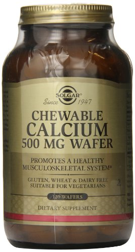 Solgar - Chewable Calcium Wafers, 500 Mg, 120 Wafers ()