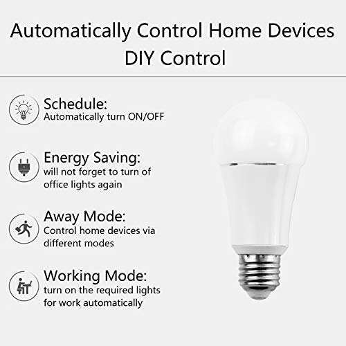 Smart Bulb by MartinJerry | Compatible with Alexa, Smart Home Devices Works with Google Home, No Hub required, Easy installation and App control as Smart Switch On/Off / Timing (1 Pack) by Martin Jerry (Image #4)