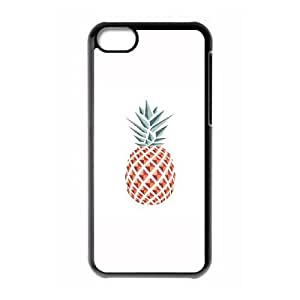 iPhone 5c Cell Phone Case Black Pineapple carved cell phone case bgk7191892