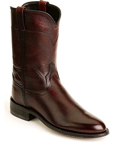 (Old West Men's Leather Roper Cowboy Boot Black Cherry 10.5 D(M) US)