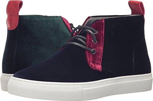Del Toro Tout En Velours Chukka Haut Sneaker Multicolore