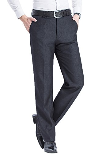 ic Straight Fit Wrinkle-Free Flat Front Blend Mulberry Silk Textured Dress Pant (Blend Mens Dress Pants)