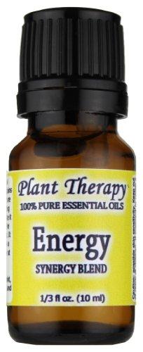 Synergie Energie Mélange d'huiles essentielles (énergie physique). 10 ml. 100% Pure, non dilué, de grade thérapeutique. (Mélange de: menthe poivrée, romarin, de citron et d'eucalyptus)