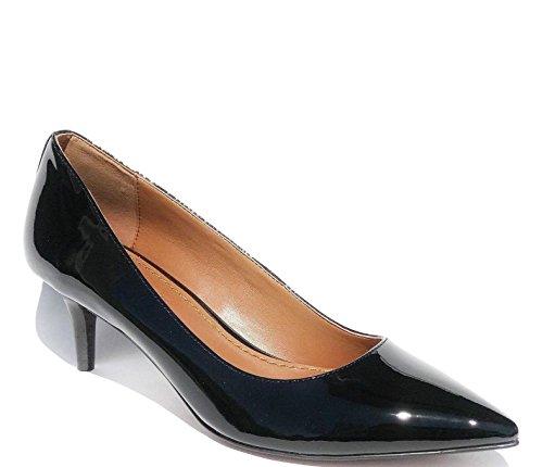 Coach Women's Mid Heel Pump Shoes Patent Leather Black 10