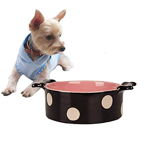 (Ceramic Pet Bowl,Bone Shape Ceramic Dog Water & Food Dishs Cat Feeding Basic Bowl, for Small to Medium Dogs and Cats - Durable and easy to clean)