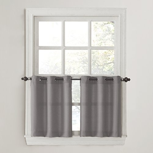 No. 918 Montego Casual Textured Grommet Kitchen Tier Curtain