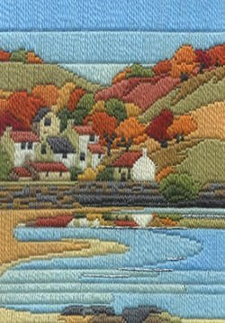 Coastal Autumn Long Stitch Kit (Autumn Stitches)
