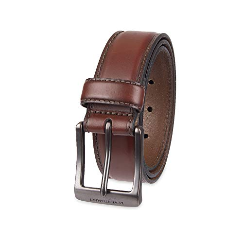 (Levi's Men's Leather Belt With Padded Center, Brown, 44)