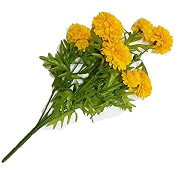 Amazon pack of 3 thai artificial yellow marigold bunch goodgoodsthailand thai artificial yellow marigold bunch artificial flowers marigold flowers yellow flowers mightylinksfo Images