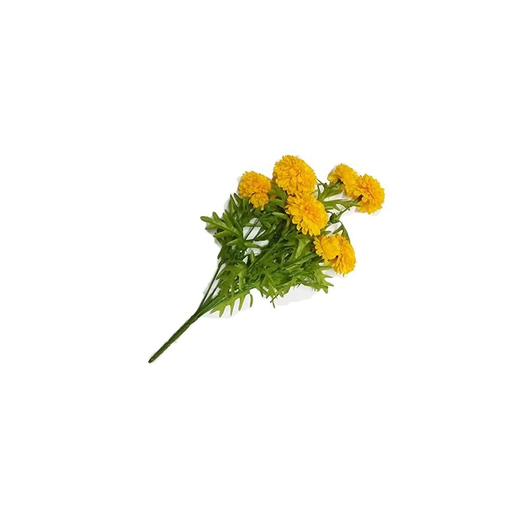 Pack-of-3GoodGoodsThailand-Thai-Artificial-Yellow-Marigold-Bunch-Artificial-flowers-Marigold-flower-Yellow-Flowers-Marigold-Yellow-Calendula-officinalis9-stem-per-1-case