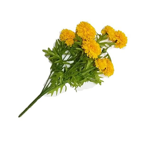 Pack-of-3GoodGoodsThailand-Thai-Artificial-Yellow-Marigold-Bunch-Artificial-flowers-Marigold-flower-Yellow-Flowers-Marigold-Yellow-Calendula-officinalis9-stem-per-1-case