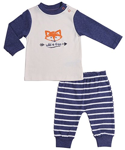 Baby Boys' Clothing Sets Long-Sleeve T-Shirt and Blue Pant. Size 0-3 Month Pajama