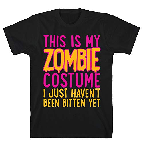 LookHUMAN This is My Zombie Costume, I Just Haven't Been Bitten Yet XL Black Men's Cotton -