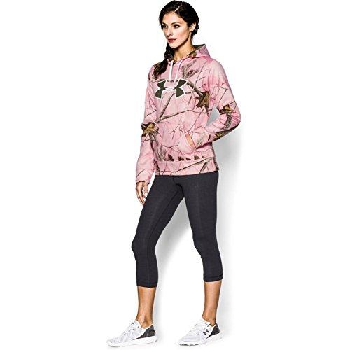 Under Armour Women 's UA Big Logo sudadera con capucha de camuflaje Realtree Ap Pink/ Perfection/ Rifle Green