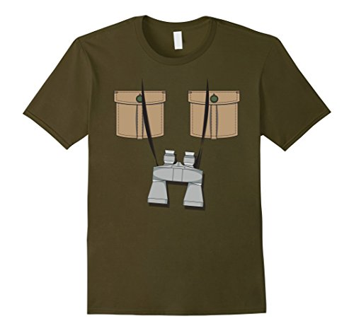 Zookeeper Costume For Men (Mens African Safari Explorer Jungle Zoo Keeper Costume T-Shirt Large Olive)