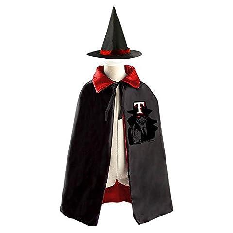 Jigsaw Texas Halloween Magic Cosplay Costume Witch Wizard Cloak Cap Craze Hat (Jake Diekman)