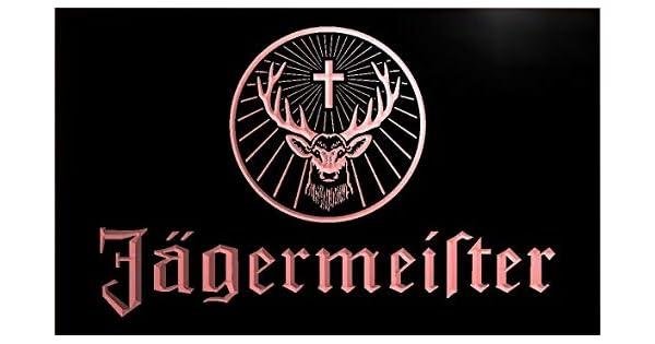 Amazon.com: Jagermeister LED señal de neón rojo de cabeza de ...