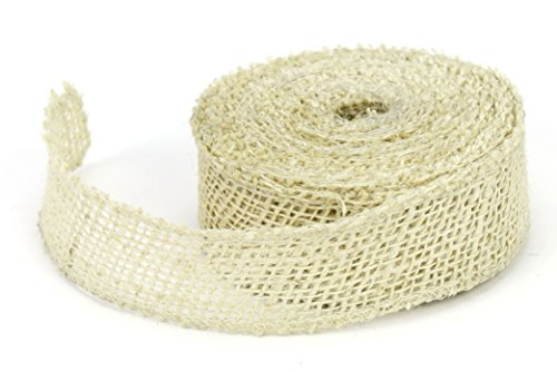 Jute Ivory Ribbon (Kel-Toy Jute Burlap Ribbon, 1.5-Inch by 10-Yard, Ivory)