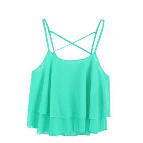 TOPUNDER 2018 Women Irregular Vest Summer Strap Tank Floral Print Chiffon Shirts Camisole