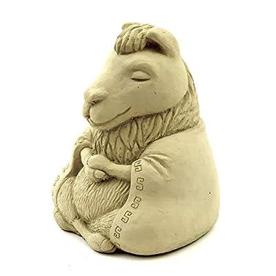 Designer Stone Meditating Llama-Multiple Sizes Sealed for Outdoor Use (Medium) : Garden & Outdoor