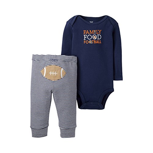 Just One You by Carters Baby Boys Thanksgiving Food Football Bodysuit and Pants Set (Newborn) (Newborn Boy Carters Football)