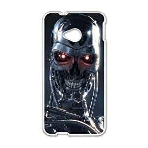 HTC One M7 White Terminator phone case cell phone cases&Gift Holiday&Christmas Gifts NVFL7N8824174