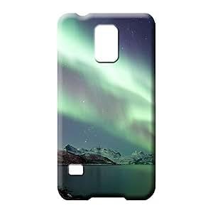 samsung galaxy s5 Slim New Awesome Look phone skins colorful aurora polar light polarization